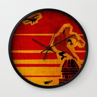 movie poster Wall Clocks featuring KING KONG MOVIE POSTER by Daniel J Permutt