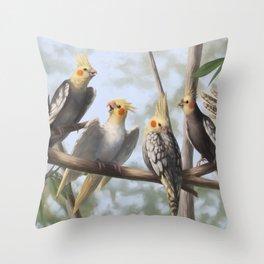 Cockatools Throw Pillow