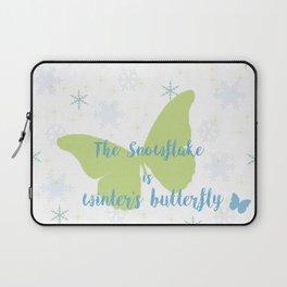 Winter Butterfly Laptop Sleeve