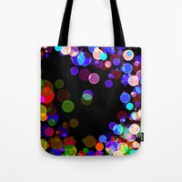 bubbles Tote Bags featuring Bubbles by haroulita