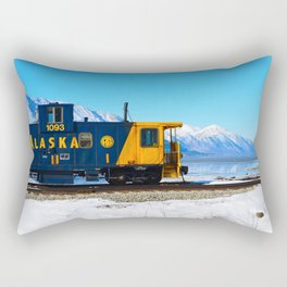 Caboose - Alaska Train Rectangular Pillow