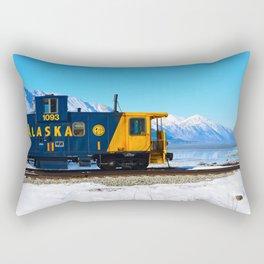Caboose - Alaska Train Rectangular Pillow