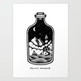 COLLECT MEMORIES Art Print
