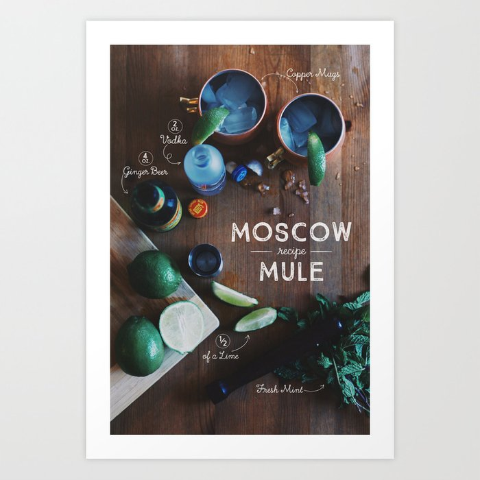 photo regarding Moscow Mule Recipe Printable identify Moscow Mule Recipe Board Artwork Print by means of kisforkat