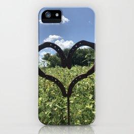 Horseshoe Hearts iPhone Case