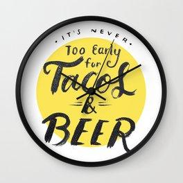 Tacos & Beer Wall Clock