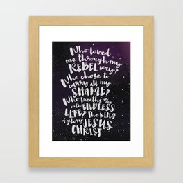Stay and Wait | 01 Framed Art Print