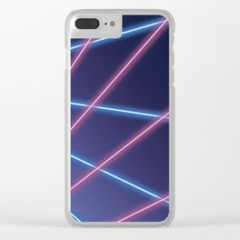 Laser Class Photo Backdrop Clear iPhone Case