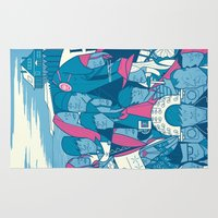 eternal sunshine Area & Throw Rugs featuring Eternal Sunshine of the Spotless Mind by Ale Giorgini