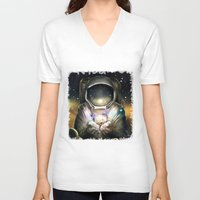 astronaut V-neck T-shirts featuring Astronaut by J ō v