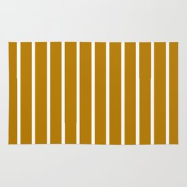 Gold and White Stripes Rug