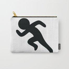 Running Stickfigure Carry-All Pouch