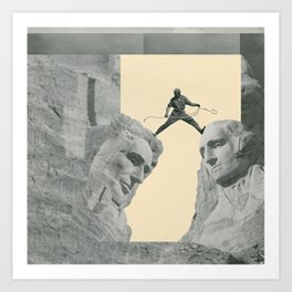 The Study Of Two Heads Art Print