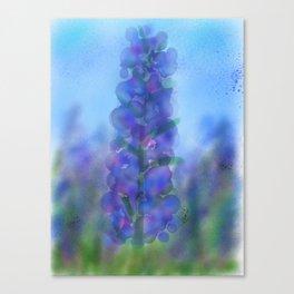 Blue Fire Canvas Print