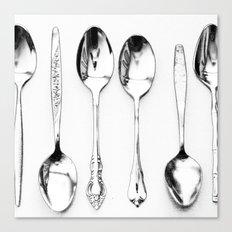 Vintage Spoons Canvas Print