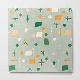 Atomic Pattern Green  #midcenturymodern Metal Print