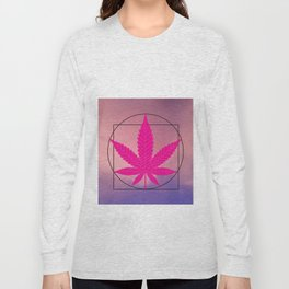 vitruvian marijuana Long Sleeve T-shirt