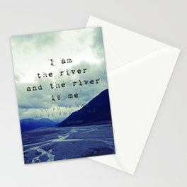 I am the River and the River is Me - Maori Wisdom - the world view Stationery Cards