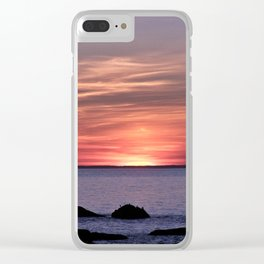 Dusk By The Sea Clear iPhone Case