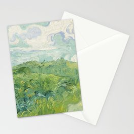 Vincent van Gogh Green Wheat Fields, Auvers 1890 Painting Stationery Cards