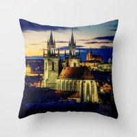 prague Throw Pillows featuring Prague by EclipseLio
