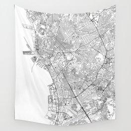 Manila White Map Wall Tapestry