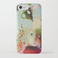 "flora bowley iPhone & iPod Cases featuring ""Deep Embrace"" Original Painting by Flora Bowley by Flora Bowley"
