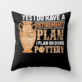 Pottery Pension Throw Pillow