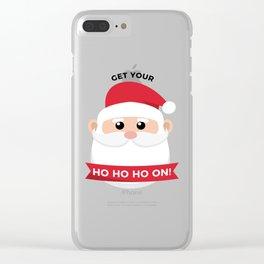 Ho Santa Claus Laughter Christmas Celebration Design Clear iPhone Case