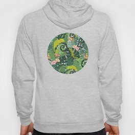 Chameleons And Salamanders In The Jungle Pattern Hoody