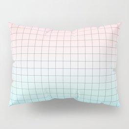 Millennial Pink and Light Blue Geometry Pillow Sham