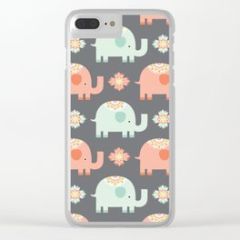 Elephants Clear iPhone Case