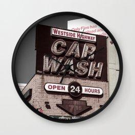 Intrepid Car Wash Wall Clock
