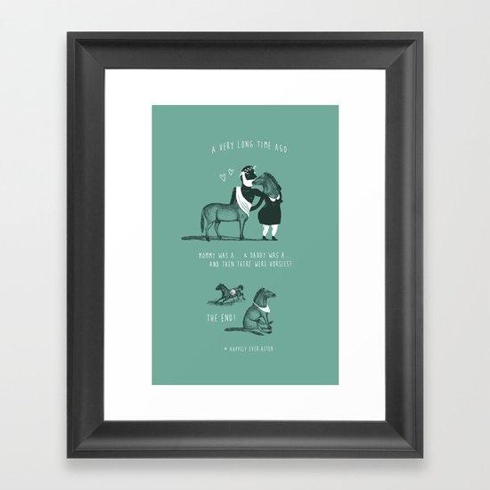 Horsies Framed Art Print