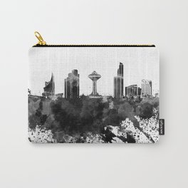 Khobar skyline in black watercolor Carry-All Pouch