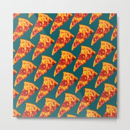 Pizza Pattern Metal Print