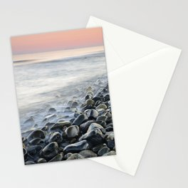 """""""Bright stones"""". Pink sunset Stationery Cards"""