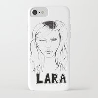 megan lara iPhone & iPod Cases featuring Lara by Lacee Swan