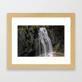 Narada Falls with a Rainbow Framed Art Print
