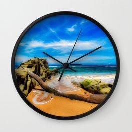 Singular Tropical Beach Wall Clock