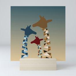 Abstract Colored Giraffe Family Mini Art Print