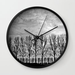 Black and white landscape Wall Clock