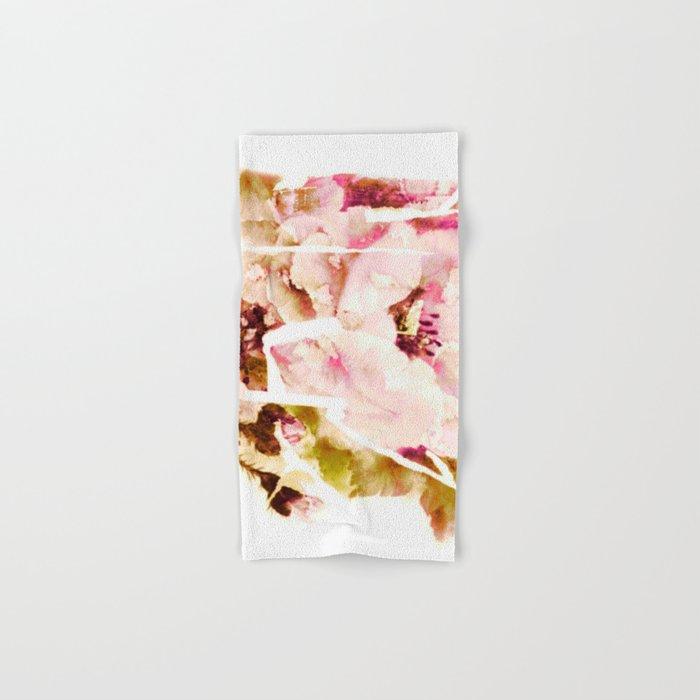 slashed floral Hand & Bath Towel