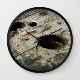 Square Pegs Wall Clock