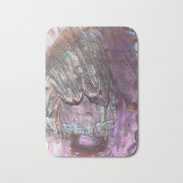 Shimmery Lavender Abalone Mother of Pearl Bath Mat