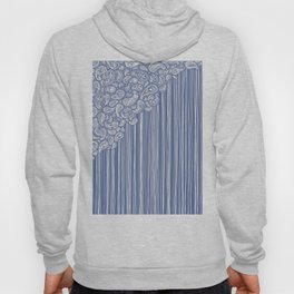 The Unraveling of Paisley Lace (in blue and cream) Hoody