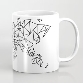 Geometric Low Poly Map of The World / Polygon geometry Coffee Mug