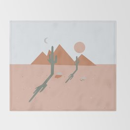 High Desert Shadows Throw Blanket