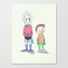 Mermaid Morty & Barnacle Rick Canvas Print