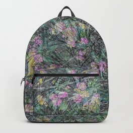 Cement Grass & Flowers / Vivid Backpack